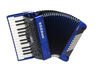 Hohner HOA16541 Bravo II 48 silent key blau