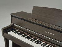 Yamaha Clavinova CLP675 dunkle Walnuss Detailansicht Korpus