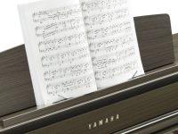 Yamaha Clavinova CLP675 dunkle Walnuss Detailansicht Notenpult