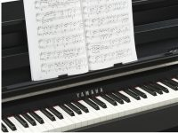 Yamaha Clavinova CLP685 schwarz matt Detailansicht Notenpult