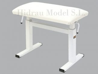 Hidrau Model BM44HPW Liftbank Kunstleder weiß
