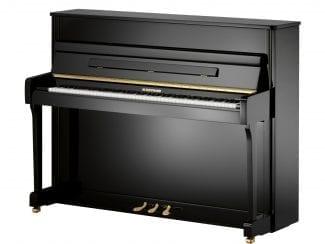 W.Hoffmann V112VSP Piano, 112cm, Vario Stummschaltung, schwarz poliert