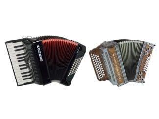 Akkordeons und Steirische Harmonikas