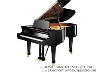 Bechstein B190SP Flügel, schwarz poliert, Premium Set: inkl. Lieferung Raum Wien Erdgeschoß und Klavierbank höhenverstellbar