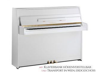 Yamaha B1PWH Piano weiß hochglanzpoliert Set