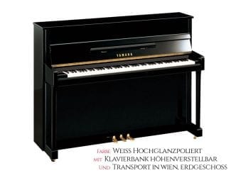 Yamaha B2EPWH Piano weiß poliert Set