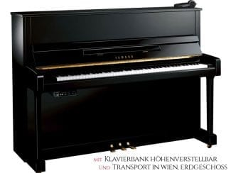 Yamaha B3ESG2PE Piano schwarz poliert Set