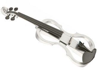 STAGG EVNX44WH Silent Violine weiß 4/4