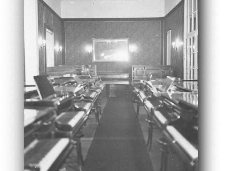 Der große Salon im vorigen Jahrhundert.