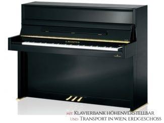 Bechstein Millenium 116KSP Piano schwarz poliert, Premium Set: inkl. Lieferung Raum Wien Erdgeschoß und Klavierbank höhenverstellbar