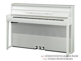 Yamaha NU1PBW AvantGrand weiß, Set: inkl. Klavierbank und Kopfhörer