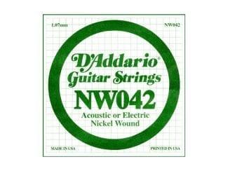 D`Addario NW42 E-Gitarren-Saite 42w