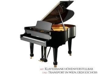 W.Hoffmann T161SP Flügel schwarz poliert, 161cm, schwarz poliert Premium Set: inkl. Lieferung Raum Wien Erdgeschoß und Klavierbank höhenverstellbar