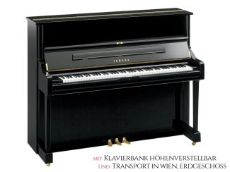 Yamaha U1QPE Piano 121cm schwarz poliert Set