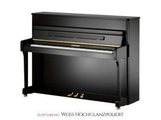 W.Hoffmann V112WHP Piano 112cm weiß poliert