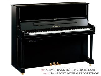 Yamaha YUS1SHTAPE TransAcoustic Piano 121cm, schwarz poliert, Set