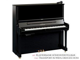 Yamaha YUS3SHPE Silent Piano 131cm, schwarz poliert, Set