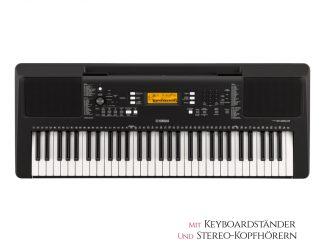 Yamaha PSEE363 Keyboard Set inkl. Kopfhörer und Ständer