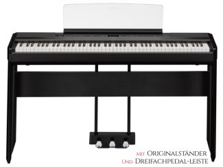 Yamaha P515B Stagepiano Set schwarz inkl. Originalständer L515B und 3-fach Pedaleinheit LP1B