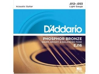 D`Addario EJ16 Westerngitarrensatz light 012-053