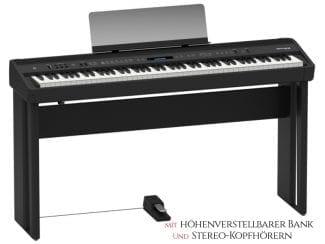 Roland FP90BK Stagepiano Set, schwarz