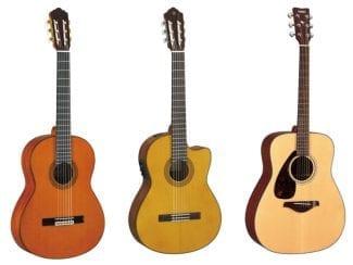 Konzert- und Westerngitarren