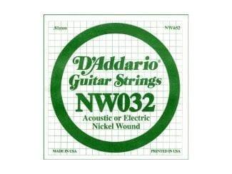 D`Addario NW32 E-Gitarren-Saite 32w
