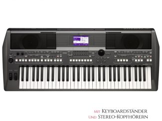 Yamaha PSRS670 Workstation 61 Tasten, Set: inkl Ständer und Kopfhörer